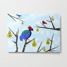 A Partridge in a Pear Tree Metal Print