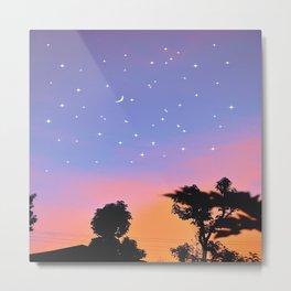 Angelic pastel rainbow sky Metal Print