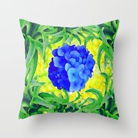 brasil Throw Pillows featuring Brasil Flag by Jess Batista