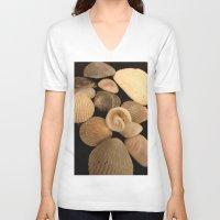 shells V-neck T-shirts featuring Shells  by Josj