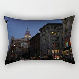 City Lights at Sunset Rectangular Pillow