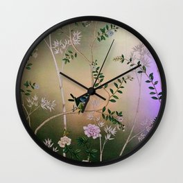 Chinoiserie Style Wall Clock