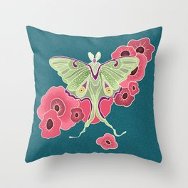 LUNA and The Poppies 1 Throw Pillow
