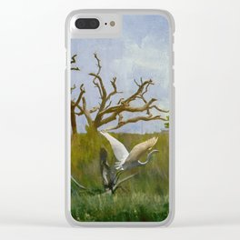 Great Egret In The Marsh Clear iPhone Case