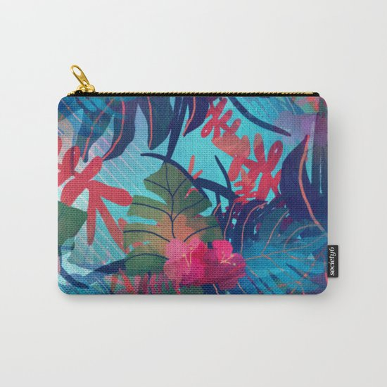 Tropical Blues Carry-All Pouch