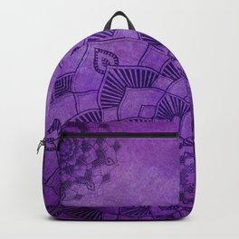 Deep Purple Lotus Mandala Backpack