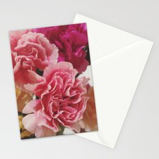 Soft Pink Carnations Stationery Cards