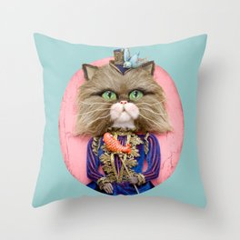 Rich Pussy Throw Pillow