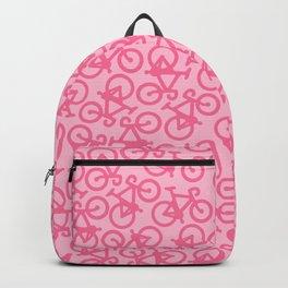 Pastel Pink Bikes Pattern Backpack