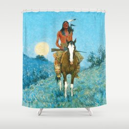 The Outlier by Frederic Sackrider Remington Shower Curtain