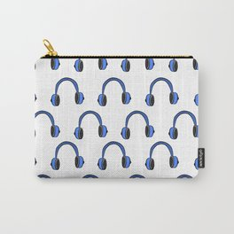 Blue Headphones Carry-All Pouch