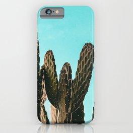 Cactus Photography Print {1 of 3}   Teal Succulent Plant Nature Western Desert Plants  Design Decor iPhone Case