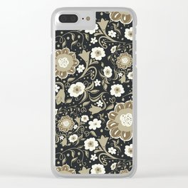 Vintage Blossoms 10 Clear iPhone Case