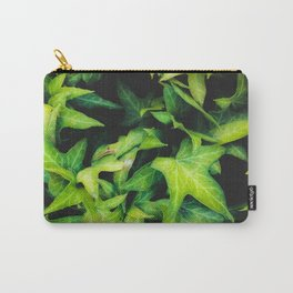 closeup green ivy leaves garden background Carry-All Pouch