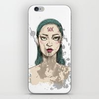sex and the city iPhone & iPod Skins featuring Sex by Aurora Rumi
