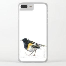 Hihi, New Zealand native Stitchbird Clear iPhone Case