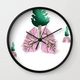 organic lungs Wall Clock