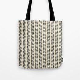 Mud Cloth - Black and White Arrowheads Tote Bag