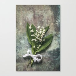 Beautiful Lily Of The Valley Canvas Print