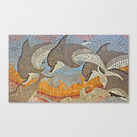 dolphins Canvas Prints featuring Dolphins!  by pnutbutterangeli