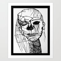 psycho Art Prints featuring ~psycho by alexisdarkness
