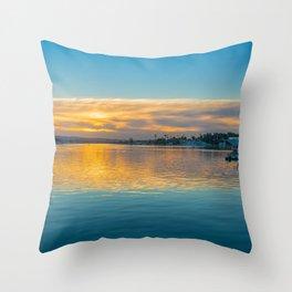 Newport Harbor Sunrise Throw Pillow