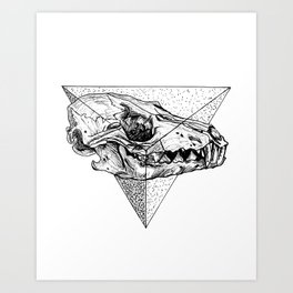 Triangle Sceleton Art Print