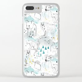 High in the Mountains Clear iPhone Case