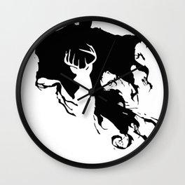 Deer patronus and deatheater Wall Clock