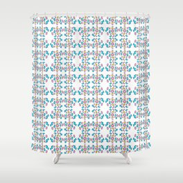 blue abstraction 4 – abstraction,abstract,minimalism,cerulean, bluish,reverie Shower Curtain