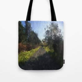 Green-lined Path on the Galloping Goose in Fall No. 1 Tote Bag