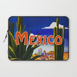 Vintage Mexico Village Travel Laptop Sleeve