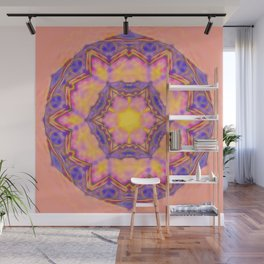 Delicate kaleidoscope in the colors of summer Wall Mural