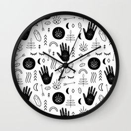 Witchy Patterns Wall Clock