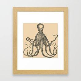 Vintage Octopus Framed Art Print