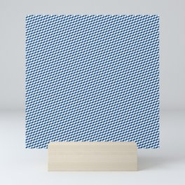 Baby Sharkstooth Sharks Pattern Repeat in White and Blue Mini Art Print