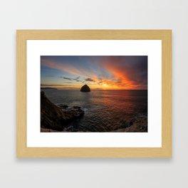 Colorful sunset Framed Art Print