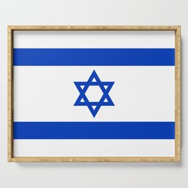 Israel Flag - High Quality image Serving Tray