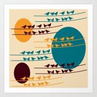 birdy Art Prints featuring birdy by BruxaMagica_susycosta