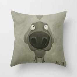 Weimaraner Love - Grey Throw Pillow