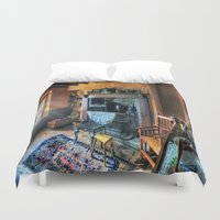 country Duvet Covers featuring Country Cottage by Ian Mitchell