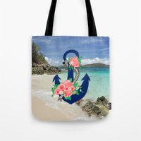 anchors Tote Bags featuring Anchors by Bri Delasole