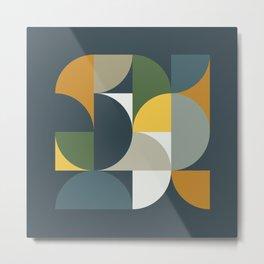 Mid Century Geometric 13/2 Metal Print
