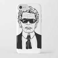 karl lagerfeld iPhone & iPod Cases featuring Uncle Karl Lagerfeld by Thompson ET Julienne