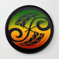 reggae Wall Clocks featuring Reggae Poloneisan by Lonica Photography & Poly Designs