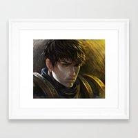 league of legends Framed Art Prints featuring LEAGUE of LEGENDS - Garen by juhaihai
