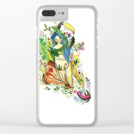 The tropical forest girl Clear iPhone Case