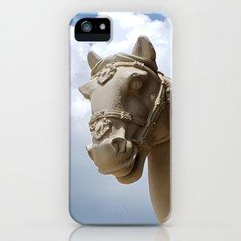 Stone Horse Head 2 iPhone Case
