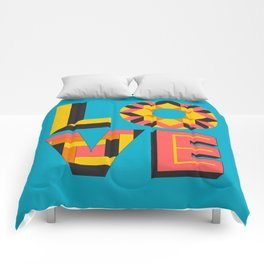 LOVE - Turquoise Comforters
