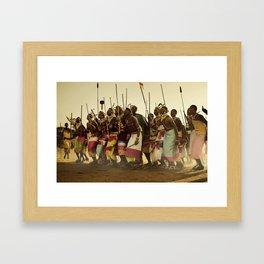 Samburu ceremonial dance Framed Art Print